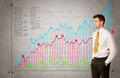 Colorful Chart With Numbers And Businessman Royalty Free Stock Photo - 91823165
