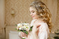 Pretty Young Bride`s Wedding Morning Stock Images - 91832924