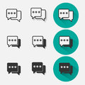 Chat Icon Set Royalty Free Stock Image - 91848626