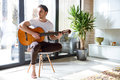 Playing The Guitar Royalty Free Stock Image - 91851466