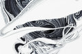 Abstract Background, White And Black Mineral Oil Paint On Water Stock Image - 91873451