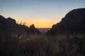 Sunset At The Window View Of The Chisos Mouontains In Big Bend National Park Royalty Free Stock Images - 91881559
