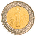 One Mexican Peso Coin Stock Photography - 91903882