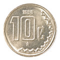 10 Mexican Peso Cents Coin Stock Image - 91903891