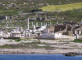 The Remains At Archaeological Site Of Delos As Seen From The Ferry, Delos Island, Mykonos Royalty Free Stock Photography - 91908177