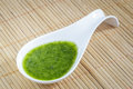 Green Sauce With Parsley, Garlic, Olive Oil And Salt. Stock Photos - 91911513