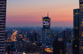 Modern Skyscraper In Warsaw After Sunset, Poland Royalty Free Stock Image - 91921886