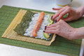 Rolling Sushi Stock Photos - 91927753
