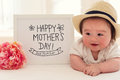 Mother`s Day Massage With Happy Baby Boy Royalty Free Stock Photography - 91933457