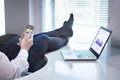 Office Worker Playing Mobile Game Royalty Free Stock Photos - 91937898