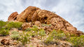 Cracks And Caves Caused By Erosion In The Red Sandstone Buttes Of Papago Park Near Phoenix Arizona Royalty Free Stock Photos - 91941288