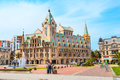 Europe Square Nice House, Fountain And People In Batumi, City Of Georgia Royalty Free Stock Images - 91954509