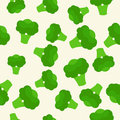 Vector Seamless Pattern With Green Bright Broccoli. Healthy Food. Vegetable Summer Pattern, Colorful Print For Design. Stock Photo - 91962490