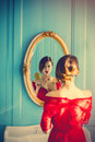 Young Woman With Comb Royalty Free Stock Images - 91962819