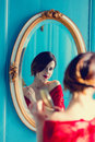 Young Woman With Comb Royalty Free Stock Image - 91963066