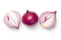 Red Sliced Onions Isolated On White Background Stock Photography - 92029892
