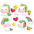 Rainbow Unicorns Stock Images - 92030464