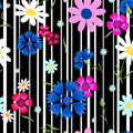 Abstract Flowers Cornflowers Stripes-01 Royalty Free Stock Photos - 92030858