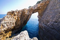 Korakonissi Bay With Stone Bridge Formation, Zakynthos, Greece Stock Photo - 92036460