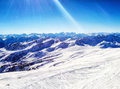 Panorama View Of A Snowy Landscape Stock Image - 92037061