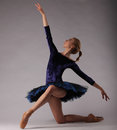 Incredibly Beautiful Ballerina In Blue Outfit Posing Classical Ballet Art. Royalty Free Stock Photos - 92042338