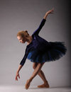 Incredibly Beautiful Ballerina With Perfect Body In Blue Outfit Posing. Classical Ballet Royalty Free Stock Image - 92045256