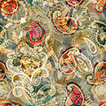 Seamless Paisley Background, Floral Pattern. Colorful Ornamental Backdrop. Color Wallpaper With Decorative Flowers Stock Images - 92061364