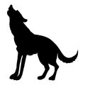 Silhouette Of Wolf Royalty Free Stock Image - 92085746