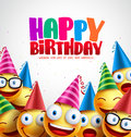 Smiley Happy Birthday Greeting Card Colorful Vector Background Royalty Free Stock Photo - 92092975