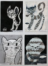 Drawings And Paintings Of Cats Of Children Royalty Free Stock Image - 92110466