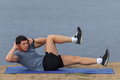 Fit Male Athlete Working Out Cross Training In Summer. Stock Image - 92111151