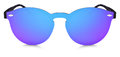Spotted Sunglasses Blue And Purple Mirror Lenses Isolated Stock Photo - 92114150