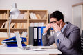 The Sleepy Businessman Working In Office Stock Photo - 92125270
