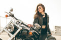 Girl On A Motorcycle Stock Photo - 92131710