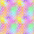 Fantastic Fish Skin Seamless  Pattern. Golden Pink Green Fishscale Swatch Texture Background. Royalty Free Stock Photography - 92133777