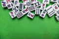 Full Of Mahjong Tiles On Green Background Royalty Free Stock Photos - 92138088