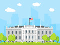 Cartoon White House Building. Vector Royalty Free Stock Photo - 92142375