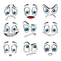 Comic Style Faces Emotions Expression Set. Vector Stock Photos - 92142983