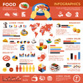Food Colored Infographic Stock Images - 92147264