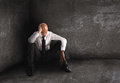 Alone Desperate Businessman. Solitude And Failure Concept Stock Photography - 92148962