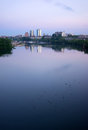 Sunrise Tennessee River Waterbirds Knoxville Downtown City Skyli Stock Photos - 92153153