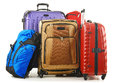 Suitcases And Rucksack Isolated On White Royalty Free Stock Photography - 92185407
