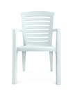 Front View Of White Plastic Chair Stock Image - 92201831