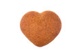 Honey Heart Shaped Cookie Isolated On White Background Royalty Free Stock Image - 92205476