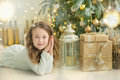 Family On Christmas Eve At Fireplace. Kids Opening Xmas Presents. Children Under Christmas Tree With Gift Boxes. Decorated Living Royalty Free Stock Photo - 92221805