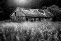 Countryside Landscape Of Old Barn Near Forest Stock Photo - 92240930
