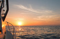 Fishermans View Of Pink Yellow Orange Sunrise Over The Sea Of Cortes / Gulf Of California While Fishing In The Early Morning Stock Images - 92276304