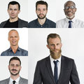 People Set Of Diversity Businessmen Studio Portrait Stock Photo - 92306150