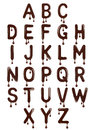 Original Stylish Latin Alphabet Made Of Melted Chocolate Royalty Free Stock Photos - 92322818