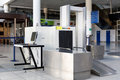 Airport Security Check Point With Metal Detector Royalty Free Stock Photography - 92353167